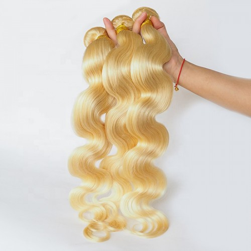 Large Stock Manufacture Wholesale Brazilian Raw 613 Body Wave Cuticle Aligned Mink Human Hair
