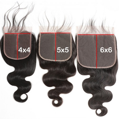 5x5 6x6 7X7 all textures  lace closure hot selling raw virgin hair closure