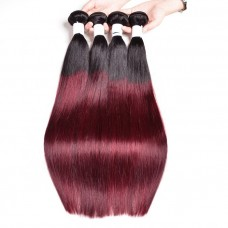 1b 99j red purple ombre straight weave wholesale virgin cuticle aligned human hair