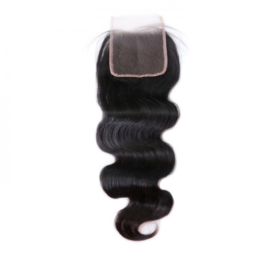 body wave lace closure Top quality 100% human  hair wholesale price