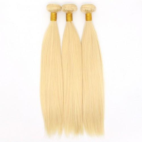 Wholesale Blonde Color Bundles Virgin Brazilian Straight wave