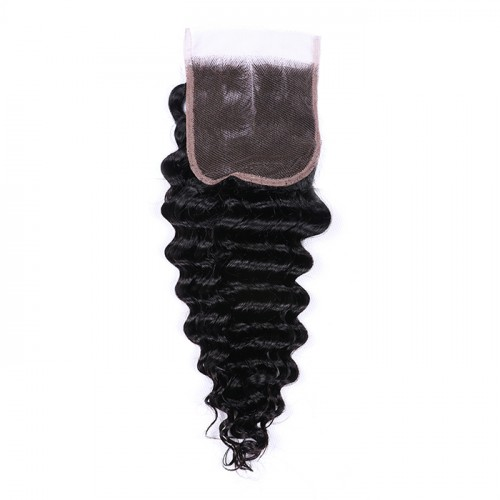 deep wave lace closure Top quality 100% human hair wholesale price