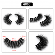 5 pairs Handmade 3d mink Natural Eye Lashes Stage Makeup False Eyelashes