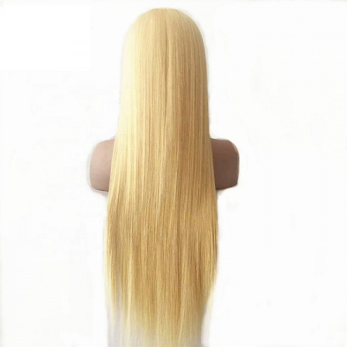 613 Blonde 4x4 Closure Transparent Lace Wig High Quality virgin  Human Hair PrePlucked With Baby Wholesale Vendor