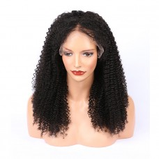 kinky curly Frontal Lace Wig Wholesale Unprocessed Brazilian Human Hair