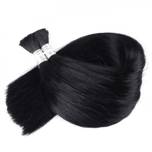 1B color Bulk Hair Factory Price Real Human Hair Top Quality Color Silky Straight