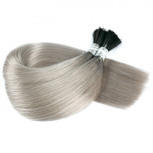 1B 65 Bulk Hair Factory Price Real Human Hair Top Quality Color Silky Straight