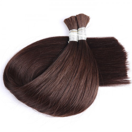 2 color Bulk Hair Factory Price Real Human Hair Top Quality Color Silky Straight